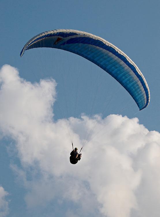 Switzerland - Parachutist over Interlaken