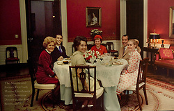 March 16, 2012 - Yorba Linda, California, U.S. - The Nixon family with former First Lady Mamie Eisenhower at Christmas Dinner in the Red Room of the White House in 1970. The photo is part of the exhibit ''Pat Nixon Centennial:  People Were Her Project. (Credit Image: © Ana Venegas/The Orange County Register/ZUMAPRESS.com)
