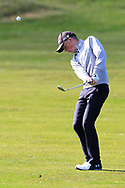 Max Kennedy (Royal Dublin) on the 1st during Round 2 of the Ulster Boys Championship at Donegal Golf Club, Murvagh, Donegal, Co Donegal on Thursday 25th April 2019.<br /> Picture:  Thos Caffrey / www.golffile.ie