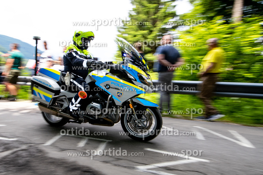 Police motorbike during 2nd Stage of 27th Tour of Slovenia 2021 cycling race between Zalec and Celje (147 km), on June 10, 2021 in Slovenia. Photo by Matic Klansek Velej / Sportida