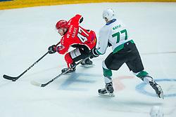Gasper Glavic of Jesenice during Hockey match between HDD Jesenice and HK SZ Olimpija in Alps Hockey League, on December 30, 2017 in Podmezakla, Jesenice, Slovenia. Photo by Ziga Zupan / Sportida