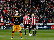 Billy Sharp of Sheffield Utd and \su4 wait to start the game during the English League One match at Bramall Lane Stadium, Sheffield. Picture date: April 17th 2017. Pic credit should read: Simon Bellis/Sportimage