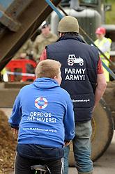 © Licensed to London News Pictures. 22/02/2014; Burrowbridge, Somerset. The river Parrett at Burrowbridge on the Somerset levels.<br /> Photo credit: Simon Chapman/LNP