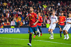 March 23, 2019 - Valencia, SPAIN - 190323 Sergio Ramos of Spain celebrates after 2-1 during the UEFA Euro Qualifier football match between Spain and Norway on March 23, 2019 in Valencia..Photo: Vegard Wivestad Grøtt / BILDBYRÃ…N / kod VG / 170317 (Credit Image: © Vegard Wivestad GrØTt/Bildbyran via ZUMA Press)