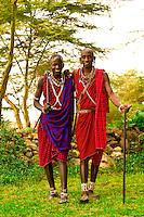 Maasai warriors, Amboseli National Park, Kenya