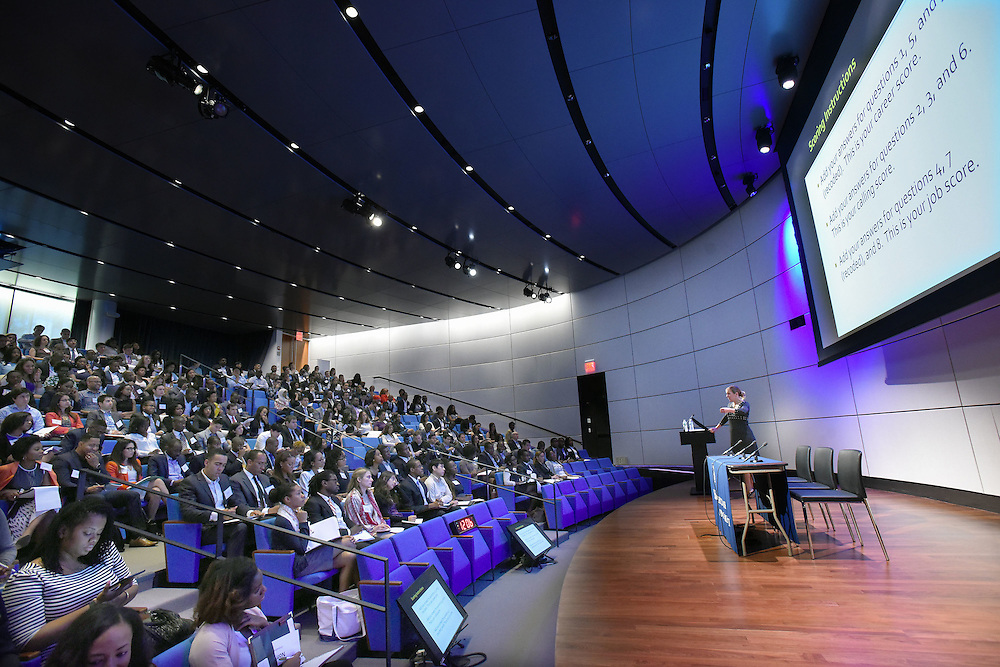 Photo by Mara Lavitt for Yale School of Management<br /> August 1, 2015 Evans Hall, Yale University, New Haven<br /> Management Leadership for Tomorrow event in Zhang Auditorium and in Evans Hall classrooms.