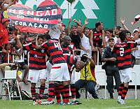 20091206: RIO DE JANEIRO, BRAZIL - Flamengo vs Gremio: Brazilian League 2009 - Flamengo won 2-1 and celebrated the 6th Brazilian Championship of its history. In picture: Flamengo players celebrating Ronaldo Angelim 's goal. PHOTO: Andre Durao/CITYFILES