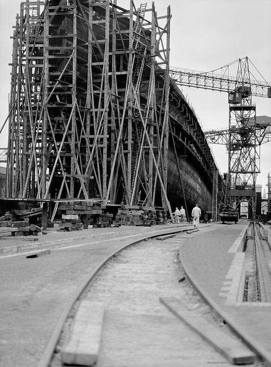 Shipyard, unknown location (possibly Deutsche Werft, Kiel), 1928
