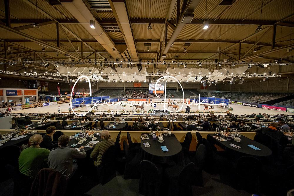 Overzicht ring<br /> KWPN Hengstenkeuring 2017<br /> © Hippo Foto - Dirk Caremans<br /> 01/02/2017