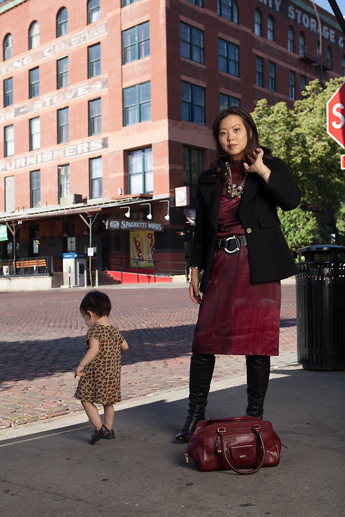 26 July 2012- Alice Kim is photgraphed in the Old Market for Omaha Fashion Week.