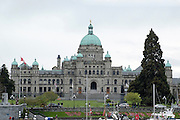 Victoria, British Columbia, Canada. British Columbia Parliament Buildings home of the Legislative Assembly of British Columbia.