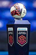 Match ball before the FA Women's Super League match between Birmingham City Women and Brighton and Hove Albion Women at St Andrews, Birmingham United Kingdom on 12 September 2021.