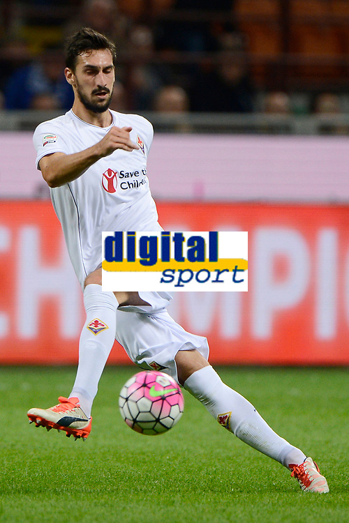 Davide Astori Fiorentina<br /> Milano 27-09-2015 Stadio Giuseppe Meazza - Football Calcio Serie A Inter - Fiorentina. Foto Giuseppe Celeste / Insidefoto<br /> Fiorentina captain Davide Astori dies suddenly aged 31 . <br /> Astori was staying a hotel with his team-mates ahead of their game on Sunday away at Udinese when he passed away. <br /> Foto Insidefoto