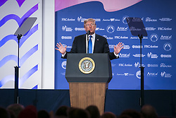 October 13, 2017 - Washington, District of Columbia, United States of America - United States President Donald J. Trump speaks at the 2017 Value Voter Summit, on Thursday, October 13, 2017 at the Omni Shoreham Hotel in Washington, D.C. .Credit: Al Drago / Pool via CNP (Credit Image: © Al Drago/CNP via ZUMA Wire)