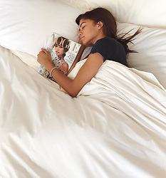 """Zendaya releases a photo on Instagram with the following caption: """"Morning from us\ud83d\ude02\u2728 @voguemagazine"""". Photo Credit: Instagram *** No USA Distribution *** For Editorial Use Only *** Not to be Published in Books or Photo Books ***  Please note: Fees charged by the agency are for the agency's services only, and do not, nor are they intended to, convey to the user any ownership of Copyright or License in the material. The agency does not claim any ownership including but not limited to Copyright or License in the attached material. By publishing this material you expressly agree to indemnify and to hold the agency and its directors, shareholders and employees harmless from any loss, claims, damages, demands, expenses (including legal fees), or any causes of action or allegation against the agency arising out of or connected in any way with publication of the material."""