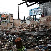 May 15, 2013 - Meiktila, Myanmar: Damaged buildings are seen in a Muslim quarter, which was razed by Buddhists in ethnic violence in March, in Meikhtila, central Myanmar. (Paulo Nunes dos Santos/Polaris)