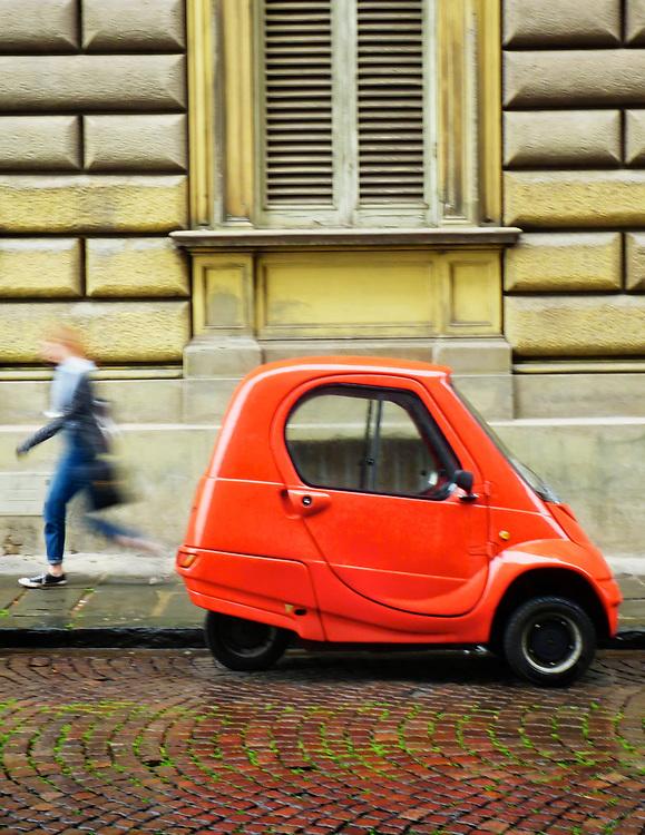 Street scene in Florence, Italy.
