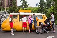 Installation Open at Pier 5 - Hot Dog Bus