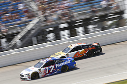 July 1, 2018 - Joliet, Illinois, United States of America - Ricky Stenhouse, Jr (17) Trevor Bayne (6) battle for position during the Overton's 400 at Chicagoland Speedway in Joliet, Illinois  (Credit Image: © Justin R. Noe Asp Inc/ASP via ZUMA Wire)