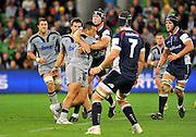 Anthony Perenise (HUR)<br /> Melbourne Rebels v The Hurricanes<br /> Rugby Union - 2011 Super Rugby<br /> AAMI Park, Melbourne VIC Australia<br /> Friday, 25 March 2011<br /> © Sport the library / Jeff Crow