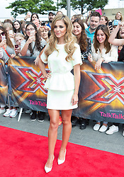 Image ©Licensed to i-Images Picture Agency. 01/08/2014. London, . RED CARPET ARRIVALS AT THE X FACTOR 2014. Cheryl Cole arrives at the X-Factor auditions at Wembley Arena. Picture by Daniel Leal-Olivas / i-Images