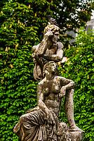 Sculpture, Jardins des Grands Explorateurs, adjacent to the Luxembourg Gardens, Paris, France.