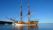 Sailboat, Echo Bay, Sucia Island, San Juan Islands, Washington State