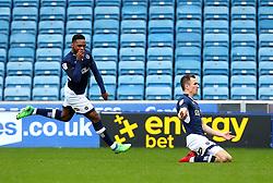 Jed Wallace of Millwall celebrates scoring a goal to make it 1-0 - Mandatory by-line: Robbie Stephenson/JMP - 07/04/2018 - FOOTBALL - The Den - London, England - Millwall v Bristol City - Sky Bet Championship