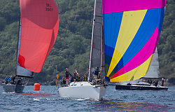 Sailing - SCOTLAND  - 26th May 2018<br /> <br /> DAY 2 Racing the Scottish Series 2018, organised by the  Clyde Cruising Club, with racing on Loch Fyne from 25th-28th May 2018<br /> <br /> GBR4757R, Moonstruck Too, Gordon Lawson, Port Edgar, J122<br /> <br /> Credit : Marc Turner<br /> <br /> Event is supported by Helly Hansen, Luddon, Silvers Marine, Tunnocks, Hempel and Argyll & Bute Council along with Bowmore, The Botanist and The Botanist