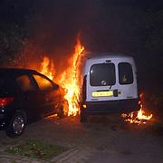 5 auto's in brand door pyromaan Eem Huizen