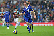 Cesar Azpilicueta of Chelsea in action. Premier league match, Burnley v Chelsea at Turf Moor in Burnley, Lancs on Sunday 12th February 2017.<br /> pic by Chris Stading, Andrew Orchard Sports Photography.