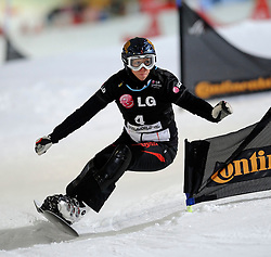 10-10-2010 SNOWBOARDEN: LG FIS WORLDCUP: LANDGRAAF<br /> First World Cup parallel slalom of the season / NEURURER Heidi AUT<br /> ©2010-WWW.FOTOHOOGENDOORN.NL