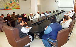 November 20, 2018 - Pakistan - HUB, PAKISTAN, NOV 19: Deputy Commissioner (DC) Lasbela, Abdul Waheed Shah presides .over a meeting on security arrangement for 12th Rabi-ul-Awwal, the birthday anniversary of .Holy Prophet Muhammad (PBUH) coming ahead, at Baldia Rest House in Hub on Monday, .November 19, 2018. (Credit Image: © PPI via ZUMA Wire)