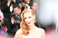 Jessica Chastain at the gala screening Madagascar 3: Europe's Most Wanted at the 65th Cannes Film Festival. On Friday 18th May 2012 in Cannes Film Festival, France.