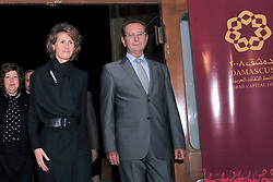 File photo - Syrian First Lady Asma Al Assad and Dominique Baudis President of Arab World Institute, Paris ('Institut du Monde Arabe'), inaugurate an exhibition on the 'Golden Era of the Arab Sciences' at the National Museum, in Damascus, Syria on October 28, 2008. Syria's British-born first lady Asma Assad has begun treatment for breast cancer. The Syrian presidency posted on its Facebook page a photo of President Bashar Assad sitting next to his wife in a hospital room. Photo by Balkis Press/ABACAPRESS.COM