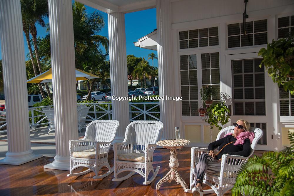 The historic Gasparilla Inn and Club on Boca Grande Island on the Gulf Coast of Florida.