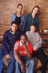 Multiracial group of teenagers,