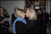 MARIANNE FAITHFUL; DEBBIE HARRY, Chris Stein / Negative: Me, Blondie, and The Advent of Chris Stein / Negative: Me, Blondie, and The Advent of Punk - private view, Somerset House, the Strand. London. 5 November 2014.