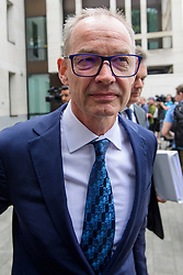 © Licensed to London News Pictures. 03/07/2017. London, UK. RICHARD BOATH leaves Westminster Magistrates Court in London where he is charged with conspiracy to commit fraud. Barclays executives John Varley, Roger Jenkins, Thomas Kalaris and Richard Boath were charged by the Serious Fraud Office following events that took place at the height of the financial crisis, when Barclays avoided a taxpayer bailout by raising £11. 8bn in emergency funds from a number of major investors, including Qatar. Photo credit: Ben Cawthra/LNP