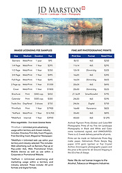 New prices for JD Marston Photography including Print and Internet