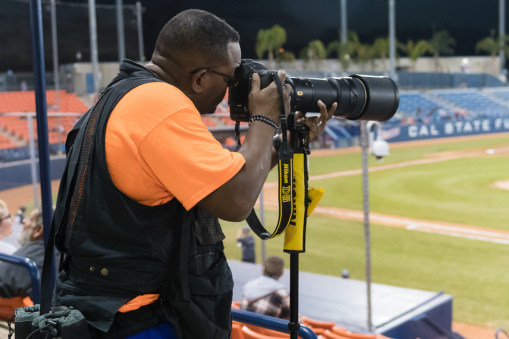 Behind the scenes with Sports Shooter Academy 13 participants at Cal State Fullerton Baseball on November 4, 2016 in Fullerton, California.  The Sports Shooter Academy Workshops are sponsored by Nikon Professional Services.  ©2016 Michael Der / Sports Shooter Academy 13 Behind the Scenes with the cast and crew of Sports Shooter Academy.