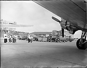 27/05/1956<br /> 05/27/1956<br /> 27 May 1956<br /> Blessing of the Aer Lingus fleet at Dublin Airport. Note the motor fleet including Volkswagen vans.