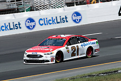 July 21, 2018 - Loudon, NH, U.S. - LOUDON, NH - JULY 21: Ryan Blaney, Monster Energy NASCAR Cup Series driver of the Motorcraft / Quick Lane Tire & Auto Center Ford (21), during practice for the Foxwoods Resort Casino 301 on July 21, 2018, at New Hampshire Motor Speedway in Loudon, New Hampshire. (Photo by Fred Kfoury III/Icon Sportswire) (Credit Image: © Fred Kfoury Iii/Icon SMI via ZUMA Press)