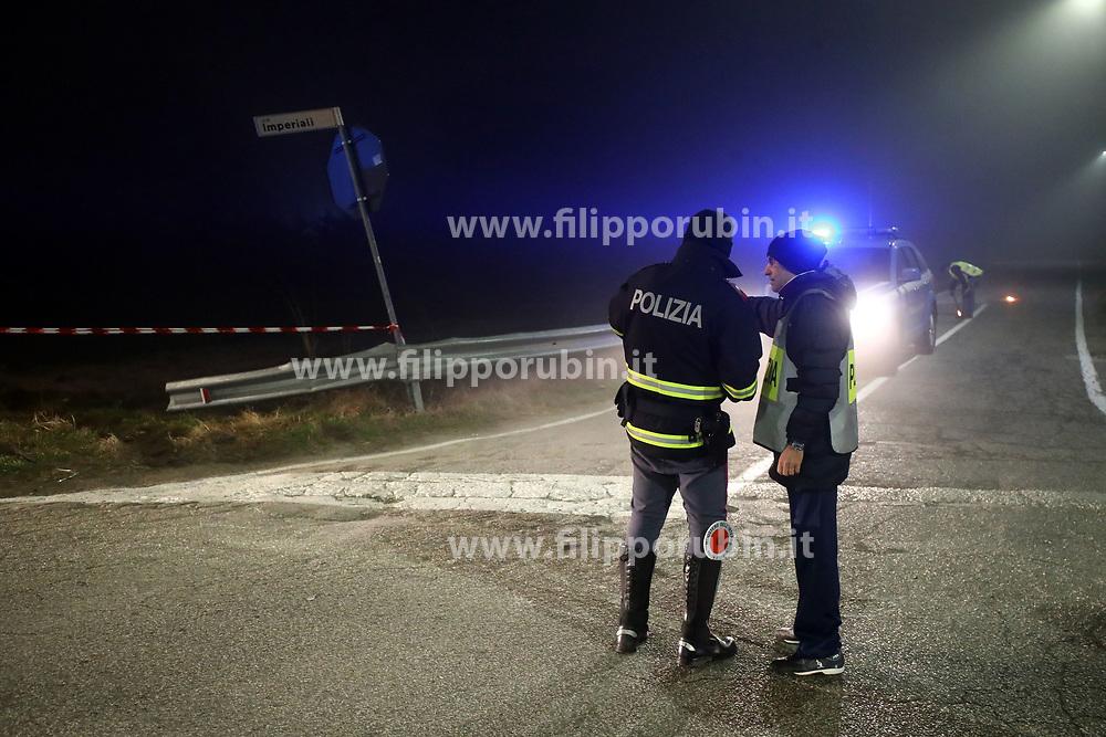 POLIZIA STRADALE<br /> INCIDENTE MORTALE SERGIO FELLI SCONTRO AUTO INCROCIO VIA IMPERIALI LIDO NAZIONI