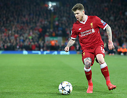 March 6, 2018 - Liverpool, U.S. - 6th March 2018, Anfield, Liverpool, England; UEFA Champions League football, round of 16, 2nd leg, Liverpool versus FC Porto; Alberto Moreno of Liverpool holds the ball up and prepares a cross into the penalty area (Photo by Dave Blunsden/Actionplus/Icon Sportswire) ****NO AGENTS---NORTH AND SOUTH AMERICA SALES ONLY****NO AGENTS---NORTH AND SOUTH AMERICA SALES ONLY* (Credit Image: © Dave Blunsden/Icon SMI via ZUMA Press)