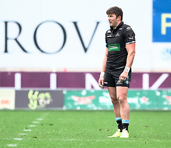 Glasgow Warriors' DTH Van Der Merwe<br /> <br /> Photographer Simon King/Replay Images<br /> <br /> Guinness PRO14 Round 19 - Scarlets v Glasgow Warriors - Saturday 7th April 2018 - Parc Y Scarlets - Llanelli<br /> <br /> World Copyright © Replay Images . All rights reserved. info@replayimages.co.uk - http://replayimages.co.uk
