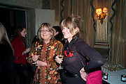CATHERINE GUINNESS CATHERINE FITZGERALD, The Dowager Duchess od Devonshire and Catherine Ostler editor of the Tatler host a party to celebrate Penguin's reissue of Nancy Mitford's ' Wigs on the Green.'  The French Salon. Claridge's. London. 10 March 2010.