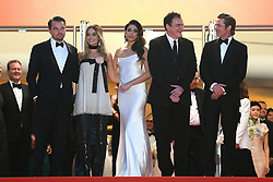 'Once Upon a Time... in Hollywood' red carpet - 72nd annual Cannes Film Festival in Cannes, France, on May 21, 2019. 21 May 2019 Pictured: Leonardo DiCaprio, Brad Pitt, Margot Robbie and Quentin Tarantino attend the screening of 'Once Upon a Time... in Hollywood' during the 72nd annual Cannes Film Festival in Cannes, France, on May 21, 2019. Photo credit: Favier/ELIOTPRESS / MEGA TheMegaAgency.com +1 888 505 6342