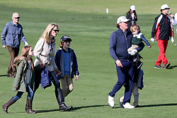 """Feb 6, 2019 Pebble Beach, Ca. USA TV, Film and singing stars that included Country singer, CLINT EASTWOOD, BILL MURRAY, CLAY WALKER ther with his kids and 2nd Wife, JESSICA CRAIG whom played in the """"3M Celebrity Challenge"""" to try for part of the 100K purse to go to their favorite charity and win the Estwood-Murray cup, for which team Clint Eastwwod's group won.. The event took place during practice day of the PGA AT&T National Pro-Am golf on the Pebble Beach Golf Links. Photo by Dane Andrew c. 2019 contact: 408 744-9017  TenPressMedia@gmail.com"""