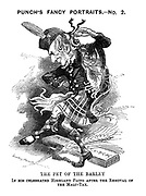 Punch's Fancy Portraits. - No. 2. The Pet of the Barley In His Celebrated Highland Fling After the Removal of the Malt-Tax.